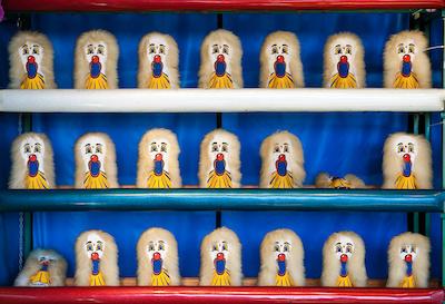 Carnival Clown Head Ball Toss Game