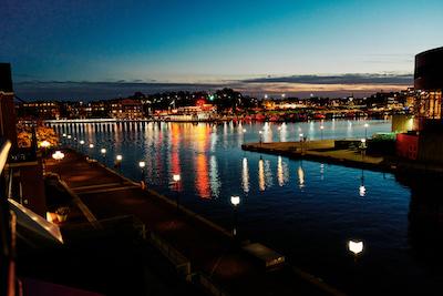 Baltimore Waterfront at Night